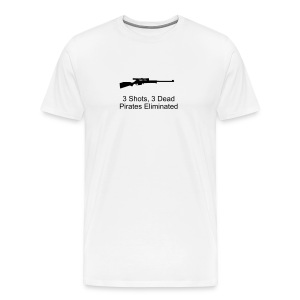 3 Shots, 3 Dead - Men's Premium T-Shirt