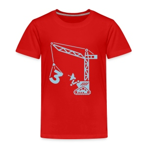Big 3 [Lt Blu on Red] - Toddler Premium T-Shirt