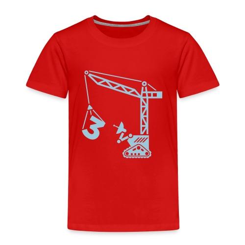 Big 3 [Lt Blu on Red] - Toddler Premium T-Shirt