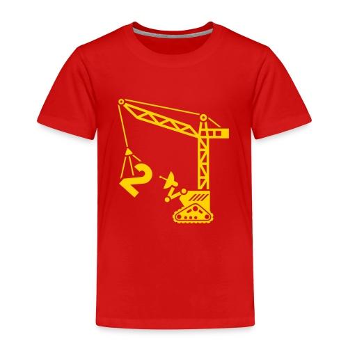 Big 2 [Yellow on Red] - Toddler Premium T-Shirt