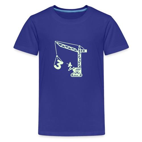 Big 3 [Glow on Blu] - Kids' Premium T-Shirt
