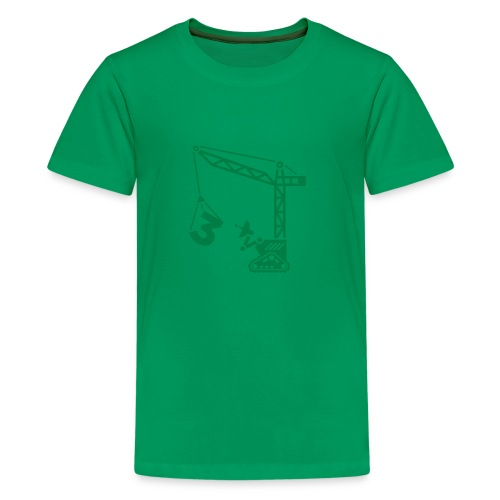 Big 3 [Dk Grn on Grn] - Kids' Premium T-Shirt