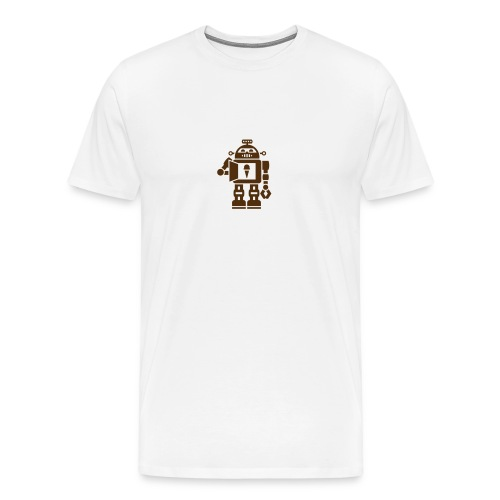 Ice Cream Robot [Brn on Natural] - Men's Premium T-Shirt