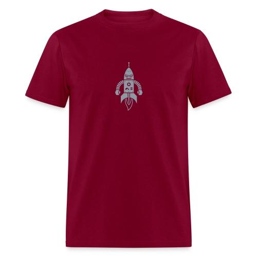 Astrobot [Silver on Burgundy] - Men's T-Shirt