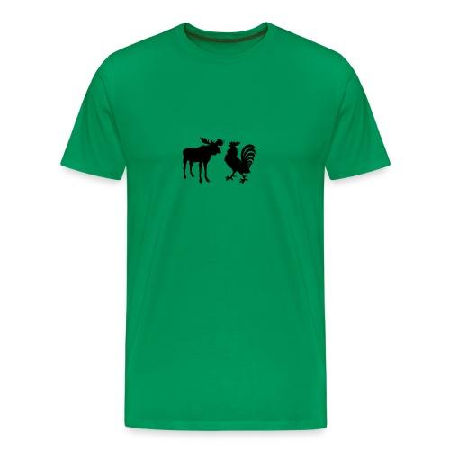 Moosecock, Black - Men's Premium T-Shirt