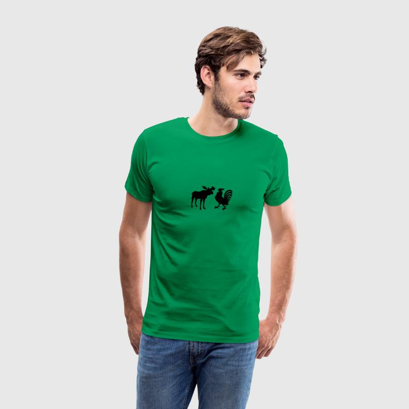 Bright green Moose Cock T-Shirts - Men's Premium T-Shirt