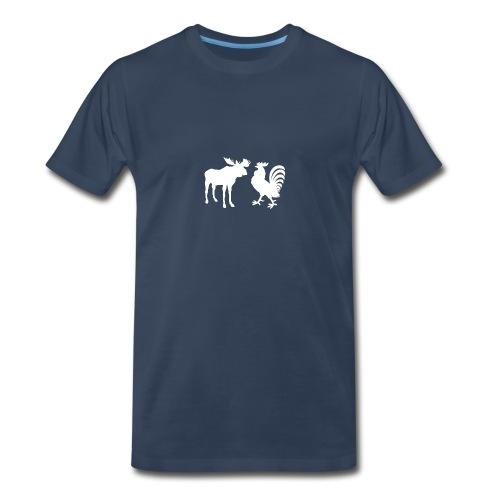 Moosecock, White - Men's Premium T-Shirt