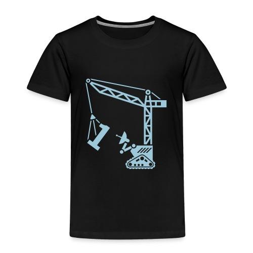 Big 1 [Lt Blu on Blk] - Toddler Premium T-Shirt