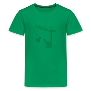 Big 4 [Dk Grn on Grn] - Kids' Premium T-Shirt