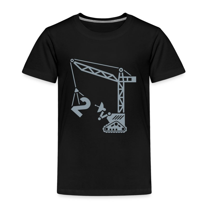 Big 2 [Silver on Blk] - Toddler Premium T-Shirt