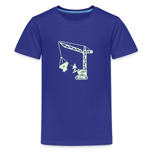 Big 4 [Lt Blu on Blu] - Kids' Premium T-Shirt