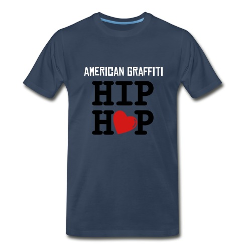 navy blue/ hip hop tee - Men's Premium T-Shirt