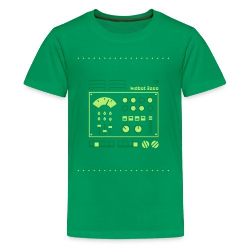 Kidbot 3000 [Grn on Grn] - Kids' Premium T-Shirt