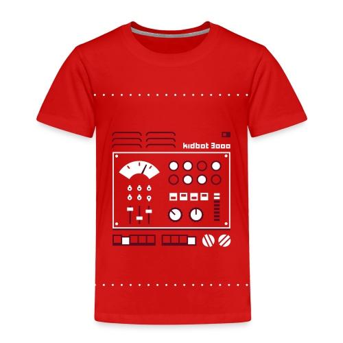Kidbot 3000 [Maroon/Wht on Red] - Toddler Premium T-Shirt