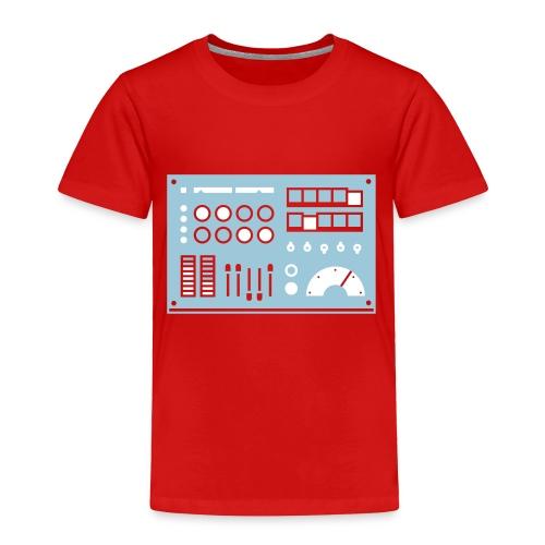 Kidbot [Lt Blu/Wht on Red] - Toddler Premium T-Shirt