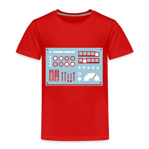 Kidbot [Lt Blu/Wht on Red] - Toddler Premium T-Shirt
