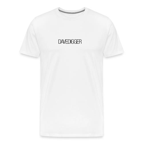 Men's White Davedigger t-shirt - Men's Premium T-Shirt