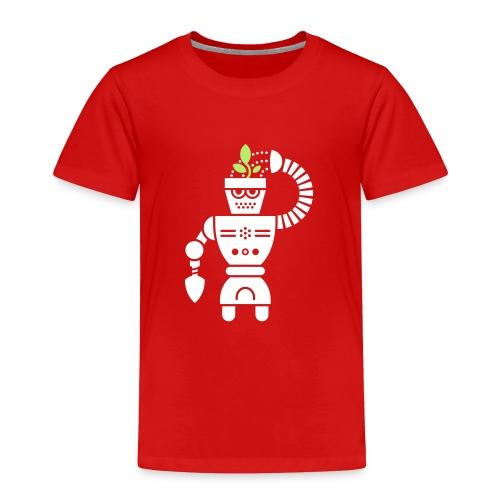 GrowBot [Wht on Red] - Toddler Premium T-Shirt