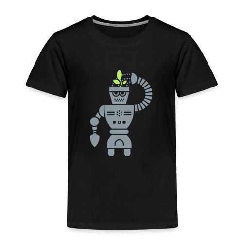 GrowBot [Silver on Blk] - Toddler Premium T-Shirt