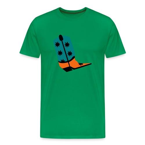 WUBT 'Cowboy Boot' Men's HW Tee, Sage - Men's Premium T-Shirt