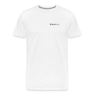 Pocket Logo on White - Men's Premium T-Shirt