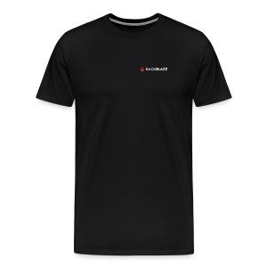Pocket logo on Black - Men's Premium T-Shirt