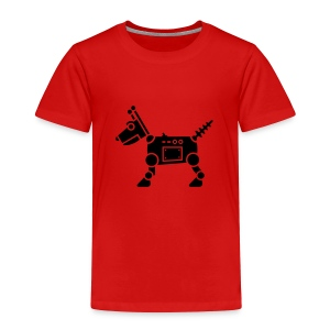 RoverBot [Fuzzy Blk on Red] - Toddler Premium T-Shirt