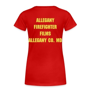 Allegany Firefighter Films Womens Plus Size Basic Tee - Women's Premium T-Shirt
