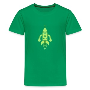 Astrobot [Lt Grn on Grn] - Kids' Premium T-Shirt