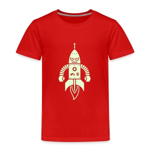 Astrobot [Glow on Red] - Toddler Premium T-Shirt