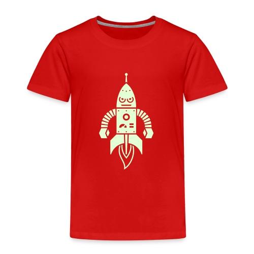 Astrobot [Glow on Red] - Toddler Premium T-Shirt