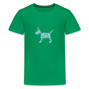 RoverBot [Lt Blu on Grn] - Kids' Premium T-Shirt