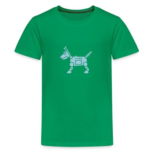 RoverBot [Lt Blu on Grn] - Kids' Premium T-Shirt