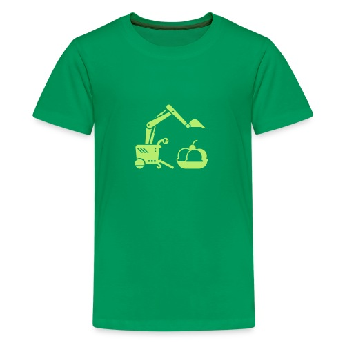 Ice Cream Scoop [Lt Grn on Grn] - Kids' Premium T-Shirt