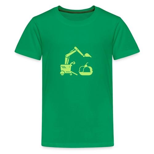 Ice Cream Scoop [Lt Grn on Grn] - Kids' Premium T-Shirt