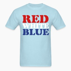 Sky blue Red White Blue T-Shirts