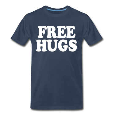 Navy Free Hugs T-Shirts