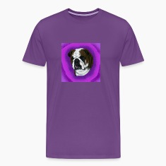 Purple English Bulldog Design T-Shirts