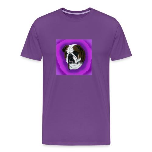 English Bulldog Head Study - Men's Premium T-Shirt