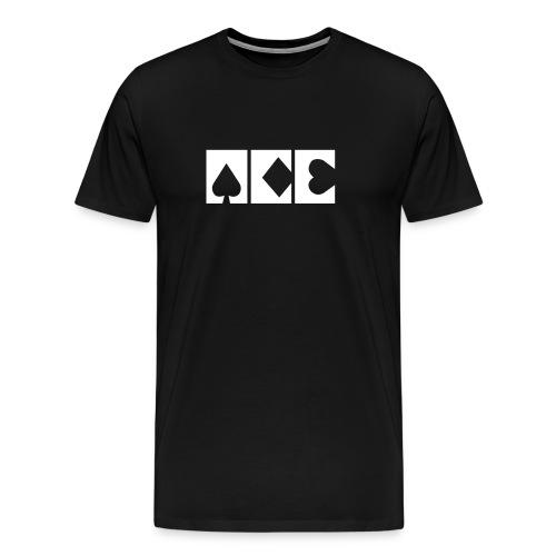 ACE logo BLACK - Men's Premium T-Shirt