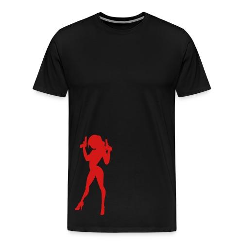 chicks with guns - Men's Premium T-Shirt