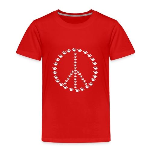 Peace for Paws Toddler T Shirt - Toddler Premium T-Shirt