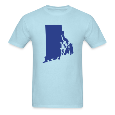 Sky blue State Rhode Island T-Shirts