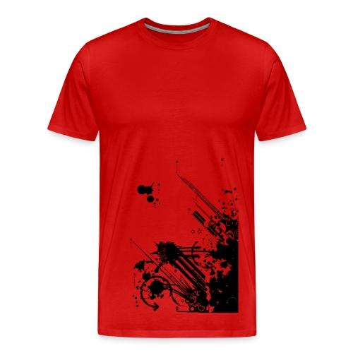 Splash Tagged Red - Men's Premium T-Shirt