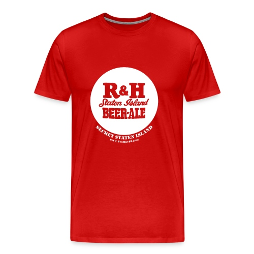 R&H Staten Island Beer - Ale Shirt - Heavyweight, Red - Men's Premium T-Shirt
