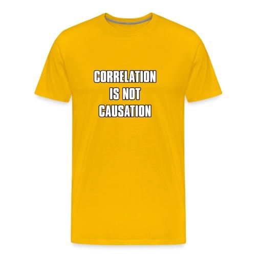 Correlation is not causation - Men's Premium T-Shirt