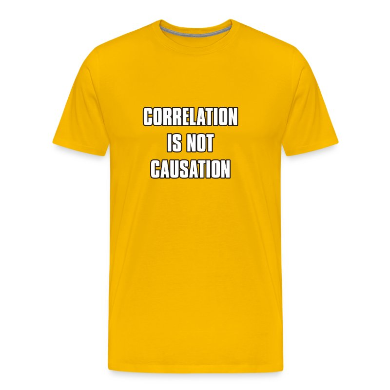 Correlation is not causation - Men's Premium T-Shirt