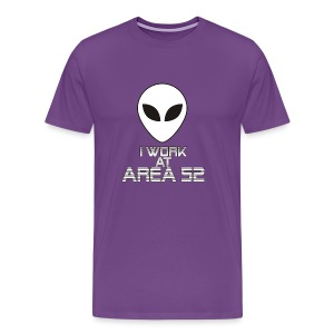 I work at Area 52 - Men's Premium T-Shirt