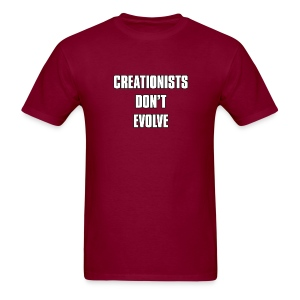 Creationists don't evolve - Men's T-Shirt