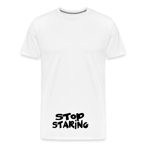 Staring at your junk. - Men's Premium T-Shirt